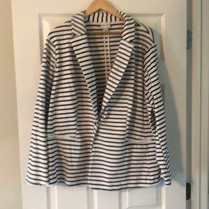 Black and white striped blazer. Never worn 2X!